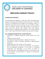 3-Employee Conduct Policy